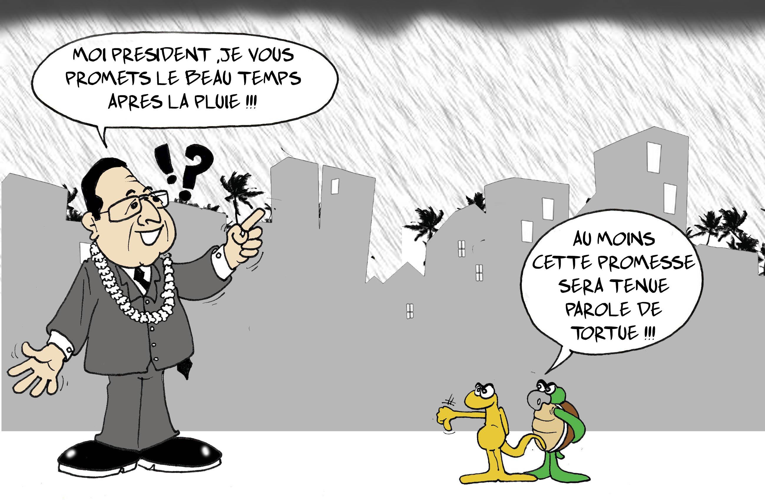"""""""La météo de Hollande"""" par Munoz"""