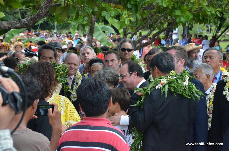 3000 personnes pour accueillir François Hollande à Raiatea