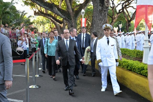 François Hollande fait la promotion des technologies marines