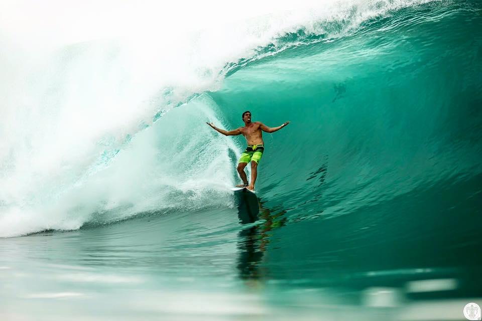 Une vague prise le 26 décembre dernier à Teahupo'o © Ben Thouard