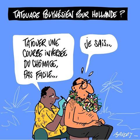 La visite de Hollande vue par les médias métropolitains (dessins et vidéos)