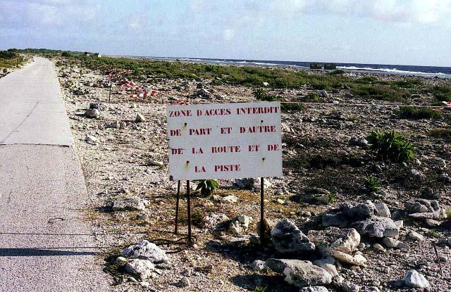La piste de l'atoll de Fangataufa (Archives).