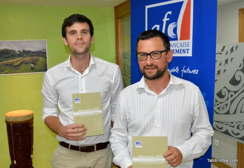 Les deux agents de l'AFD ayant analysé les comptes des communes et rédigé l'Observatoire : Hugo Lecué et Vincent Joguet