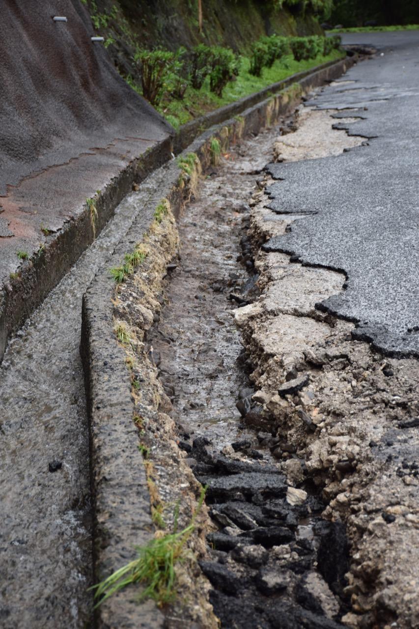 Intempéries : la route de Erima reste déviée