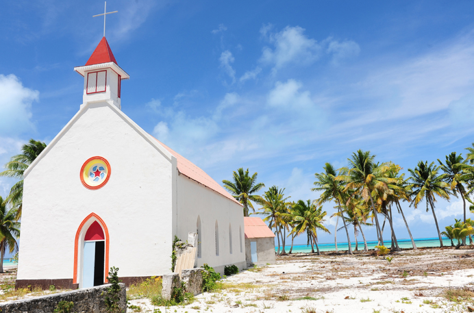 Eglise du Sacré-Coeur de Otepipi à Anaa, Tuamotu