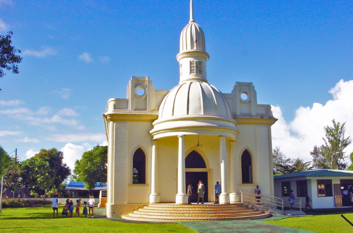 Temple protestant de Mataiea, Tahiti