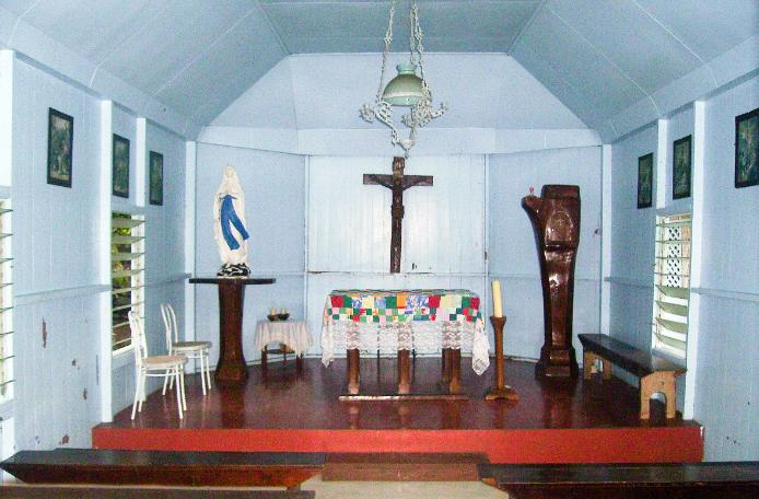 Chapelle du Sacré-Coeur de Marie à Hooumi, Nuku Hiva, Marquises. Photo Anastas