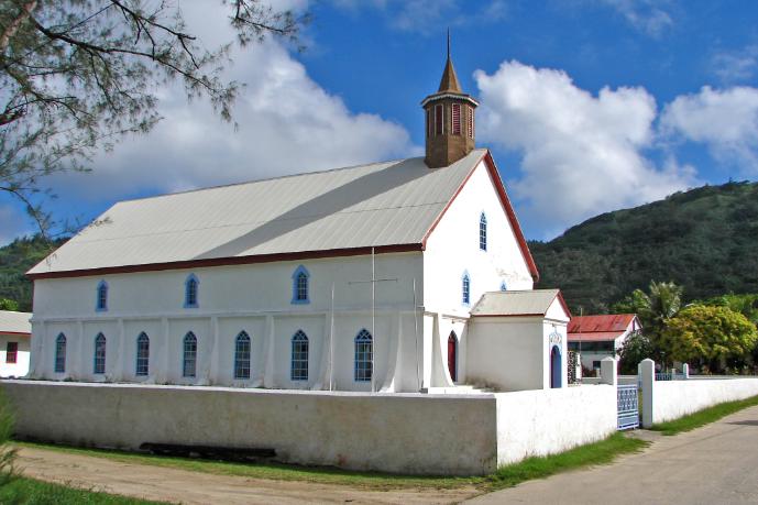 Temple de Moerai à Rurutu, Australes