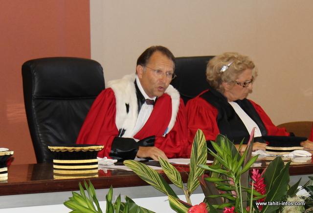 Régis Vouaux-Massel, premier président de la cour d'appel de Papeete.