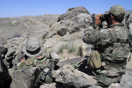 Photo non datée du ministère de la défense australien de soldats en Afghanistan. AFP/AUSTRALIAN DEFENCE FORCE