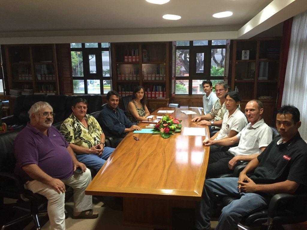 Le nouveau syndicat des professionnels de l'énergie solaire reçu par Nuihau Laurey