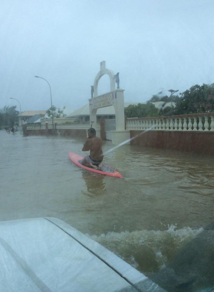 L'eau a mis plusieurs heures avant de s'évacuer. Crédit photo : Areva Christine / Facebook