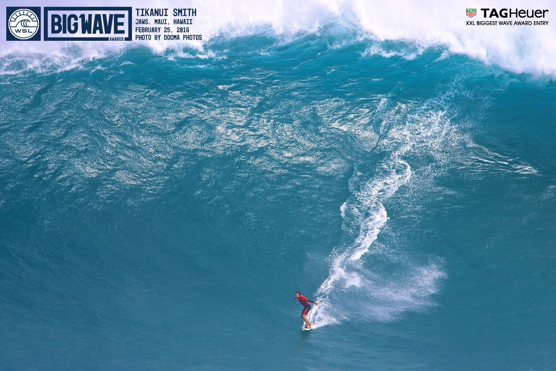 Sa vague a été sélectionnée pour les Big Wave Awards 2016