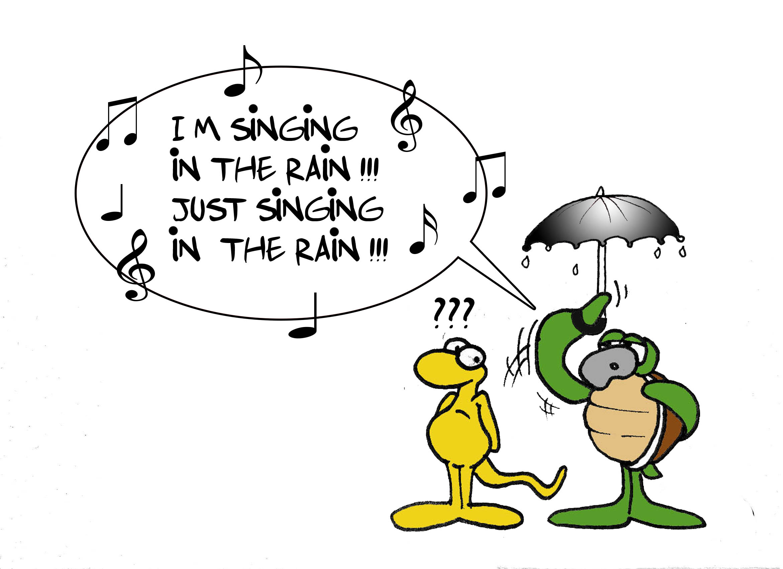 """It's raining"" par Munoz"