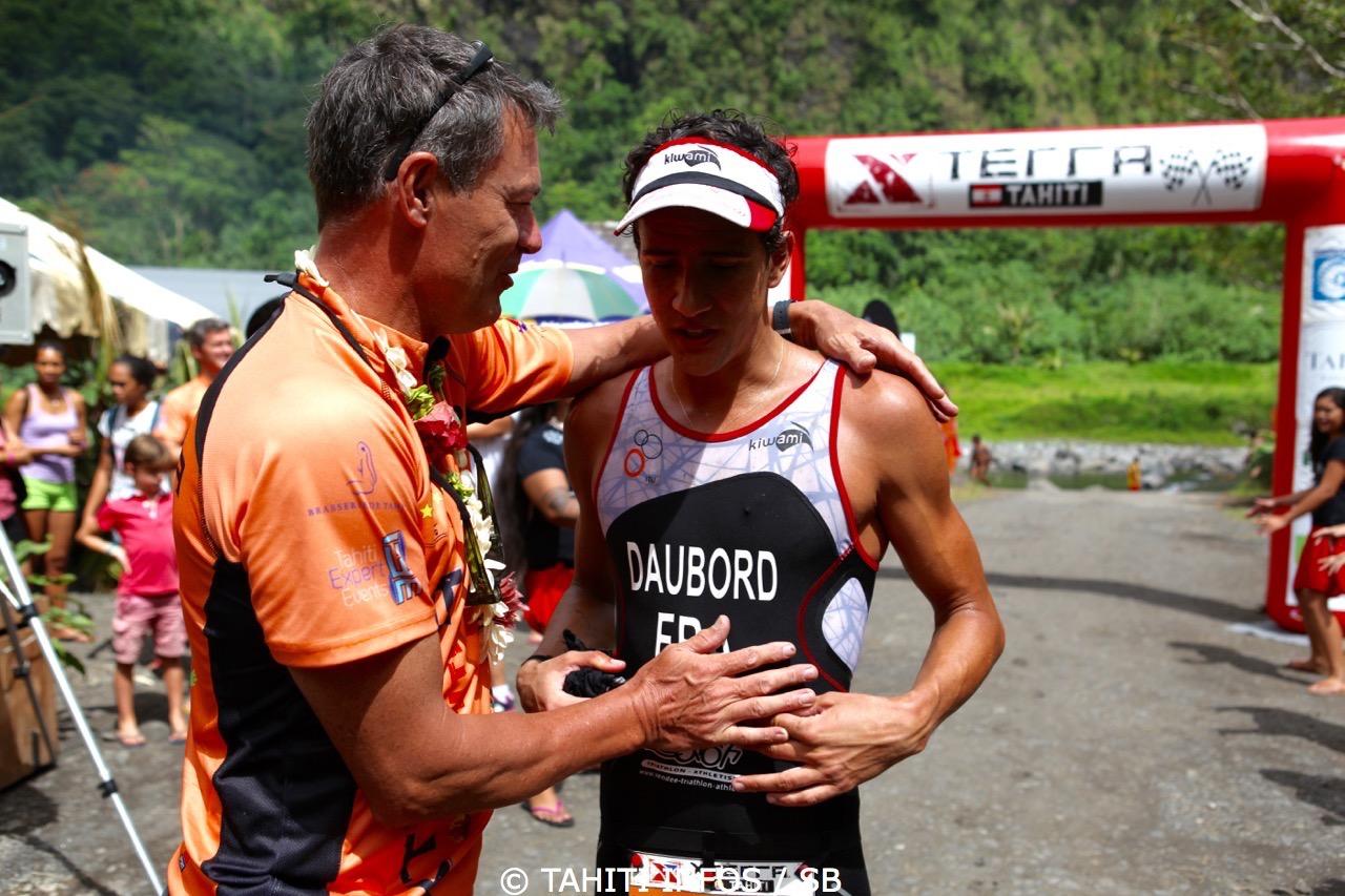 Jean Michel Monot à l'arrivée du Xterra Tahiti 2015