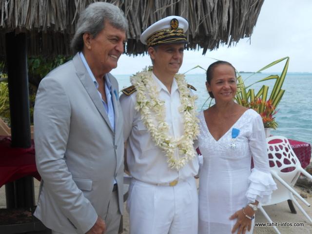 Moorea : Gabilou et Moeata ont reçu la médaille de l'ordre national du Mérite hier