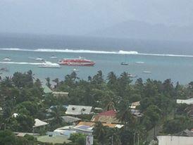 Terevau et Aremiti au large de Punaauia (Photo Facebook).