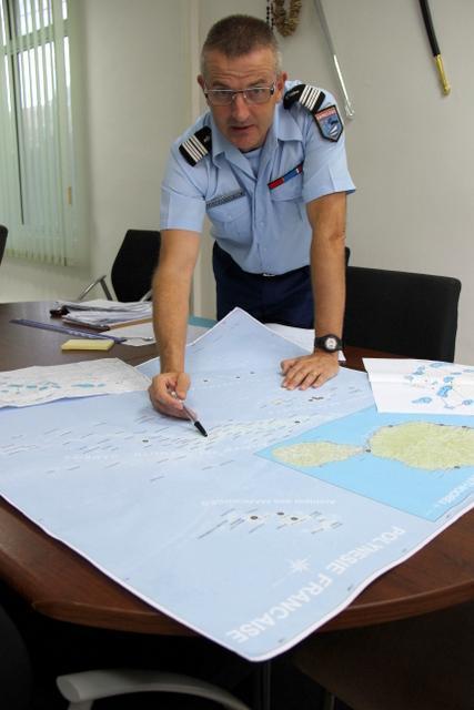 Le colonel Veuille, commandant en second de la gendarmerie pour la Polynésie française.