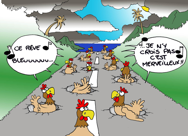 """""""Les Nids de poule"""" par Munoz"""