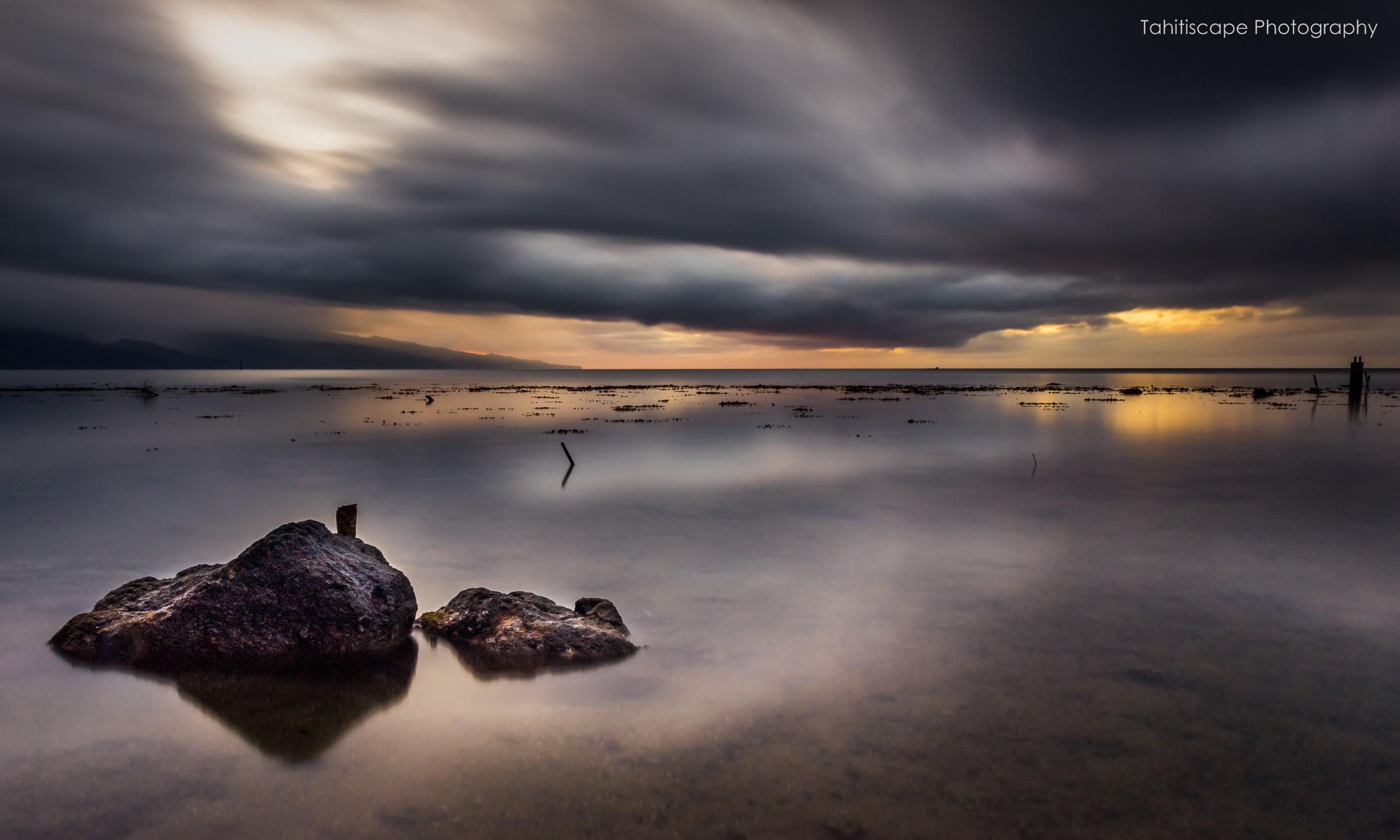 On ne voyait plus qu'un océan lisse (Tahiti, février 2016) Photo: Steve Kuo