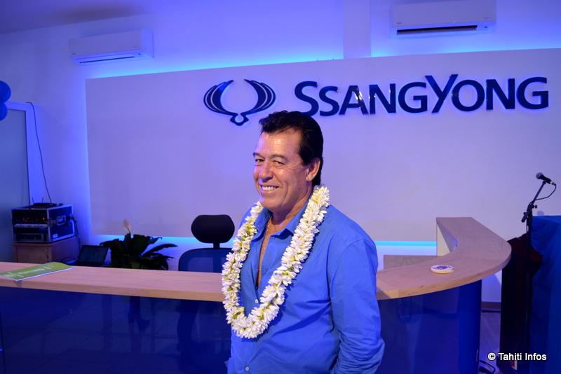 """Carl Dufour, propriétaire du groupe Miklus qui représente désormais SsangYong en Polynésie: """"Je pense avoir choisi une bonne marque, que je connais bien, sur un marché dynamique."""""""