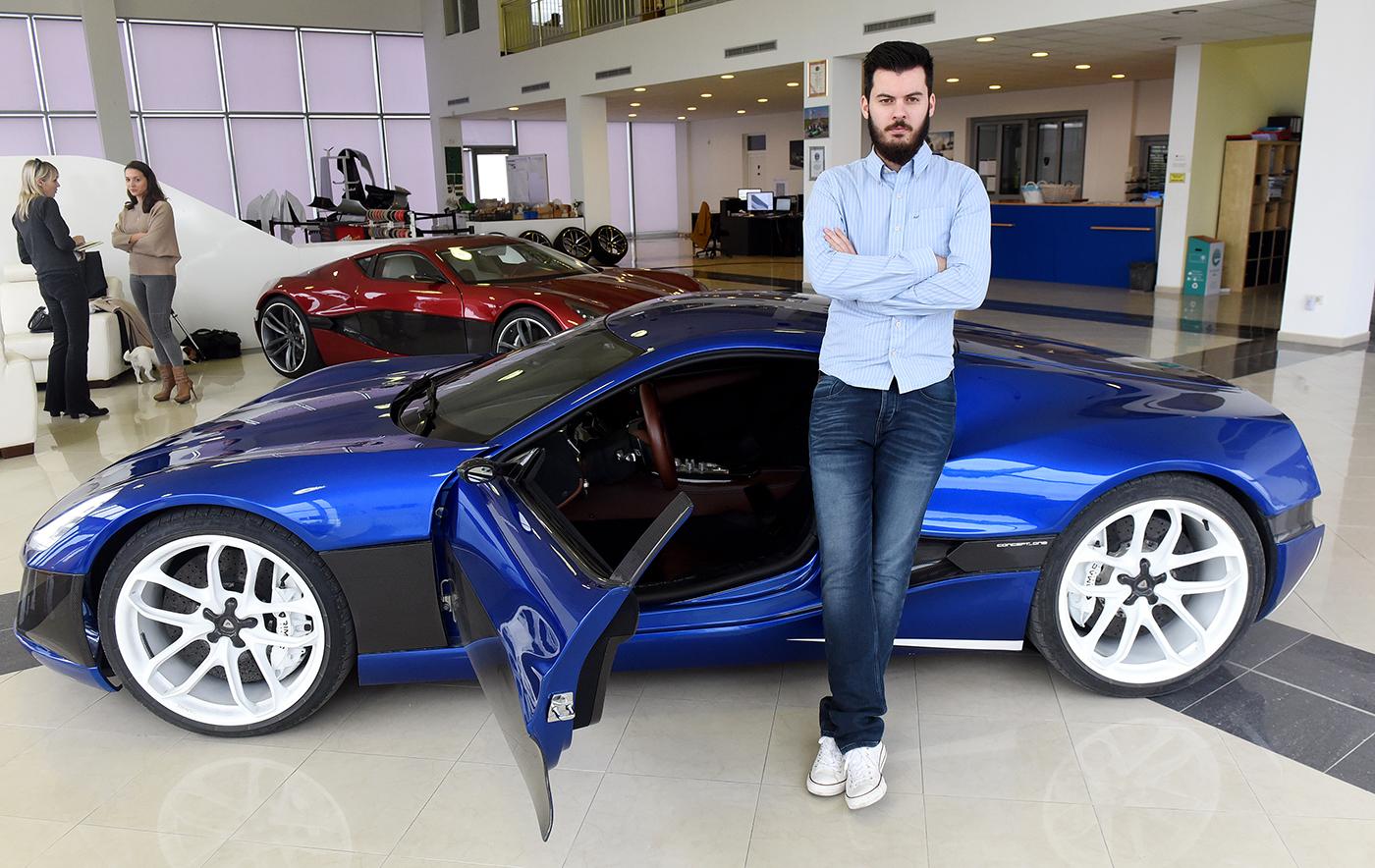 """Gloire mondiale pour le constructeur croate d'une """"supercar"""" électrique"""