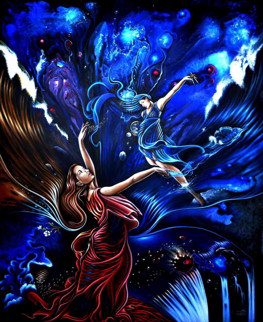 """""""Uranie et Gaia redessinant le monde"""""""