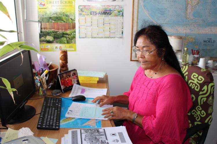 Vahi Sylvia Richaud, maître de conférences en langue, littérature cultures polynésiennes, est la responsable pédagogique de cet enseignement.