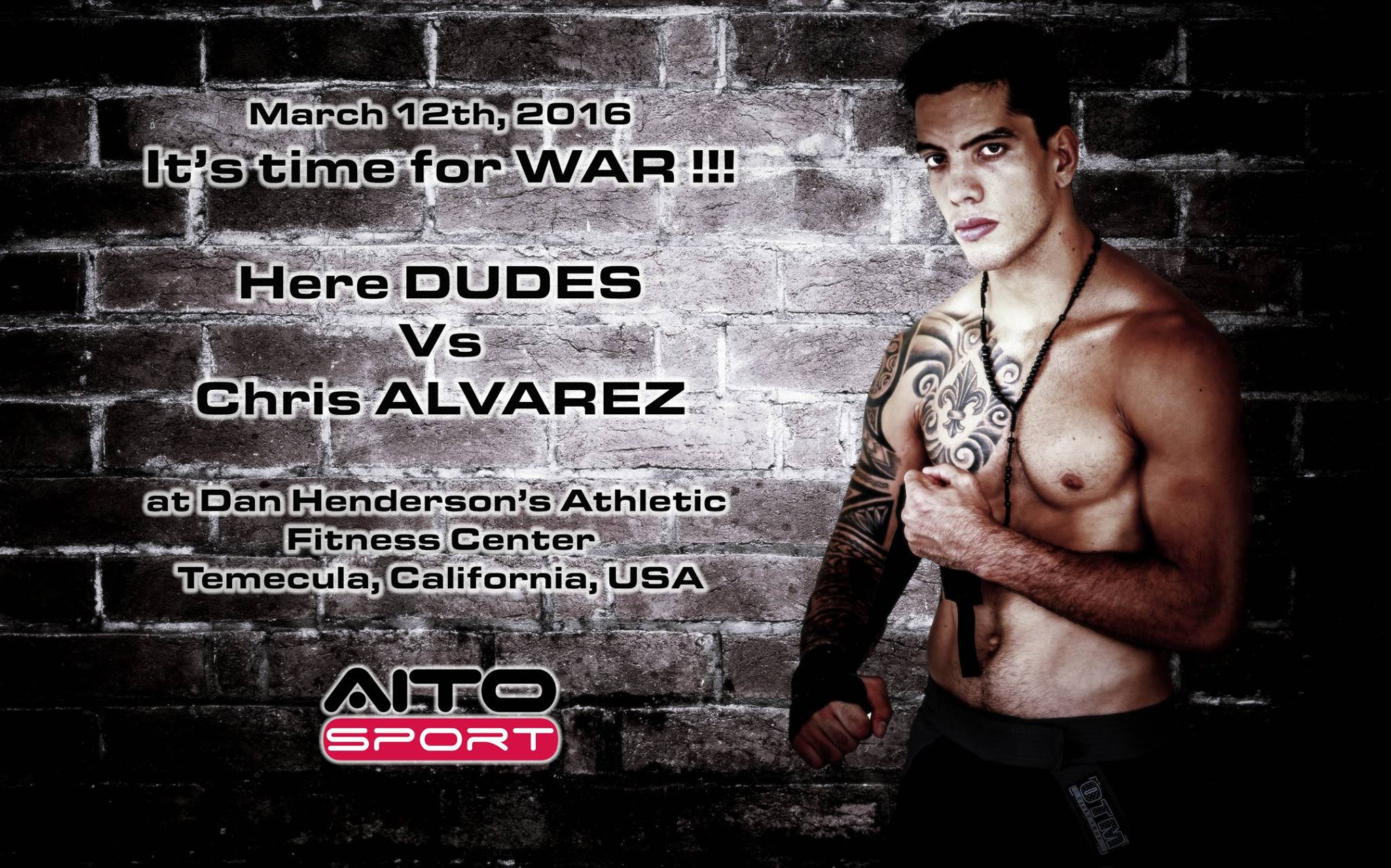 MMA – Raihere Dudes vs Chris Alvarez 'Tout peut se jouer en un coup'