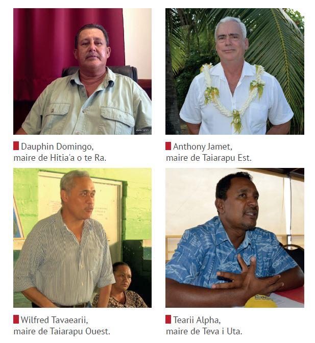 Ces quatre communes du sud de l'île de Tahiti pourraient partager certaines de leurs compétences au sein d'une structure intercommunale et mutualiser ainsi leurs moyens.