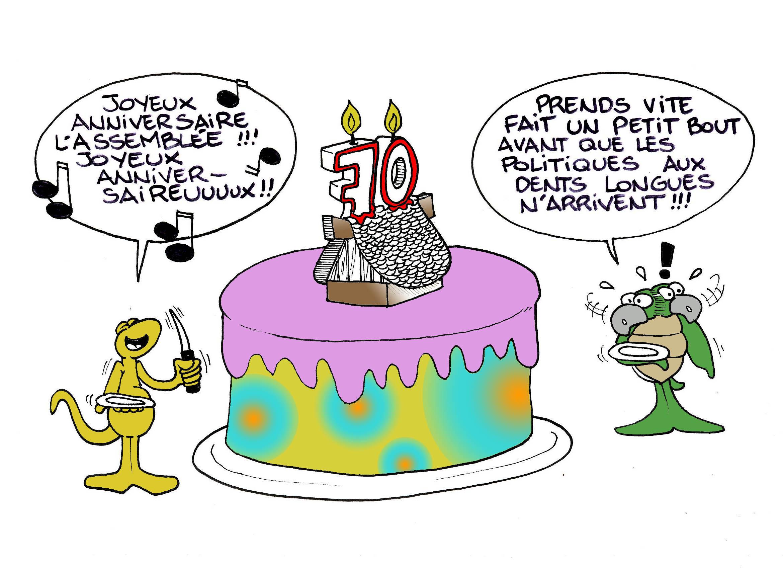 """""""L'anniversaire de l'Assemblée"""" par Munoz"""