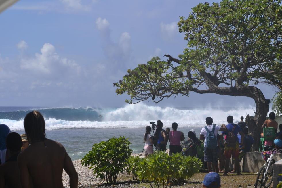 La passe d'Avatoru a offert des vagues à 10 points, le score maximum en compétition de surf