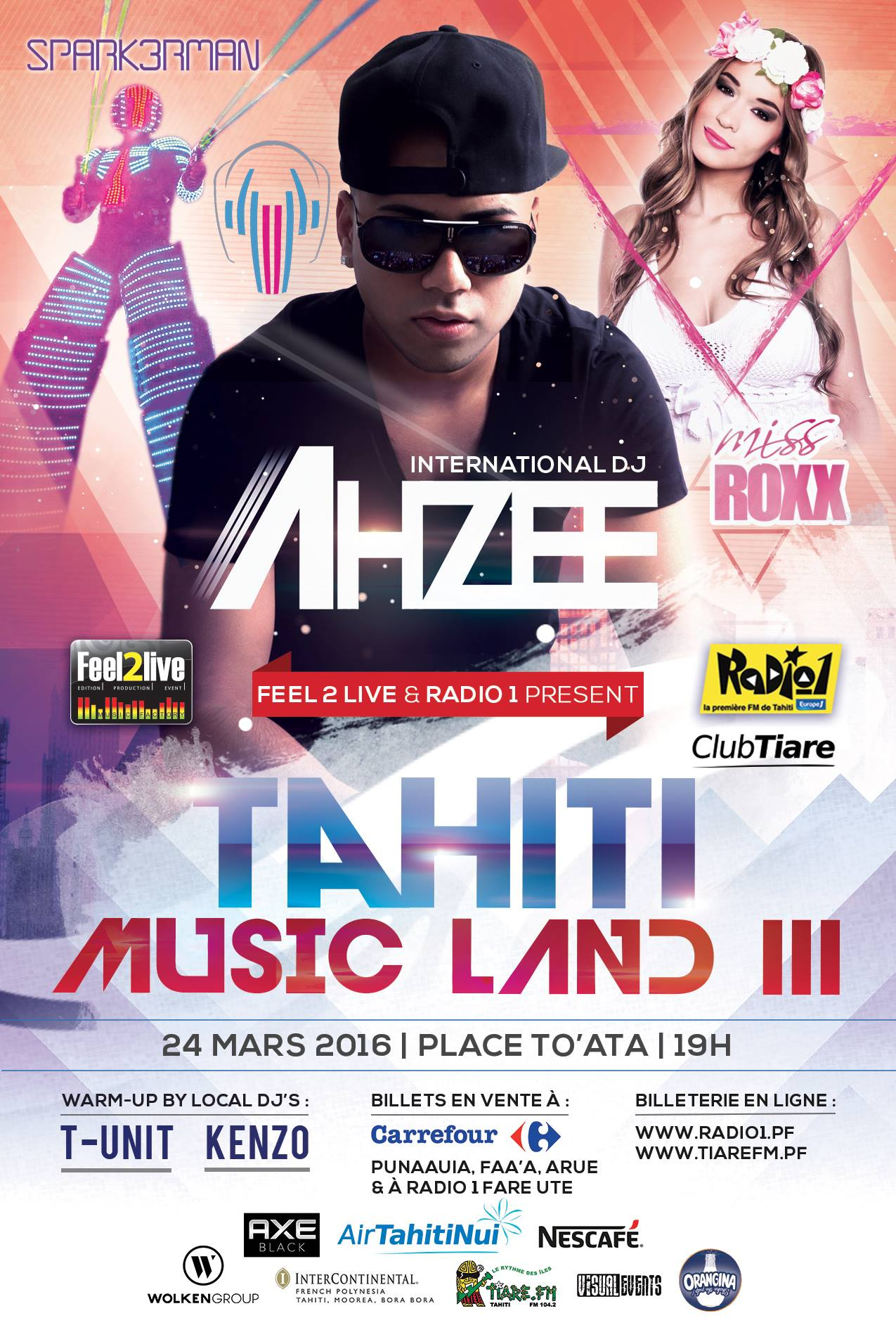 """""""Tahiti Music Land 3"""" : Ahzee, Miss Roxx et Sparkerman sont les invités du festival électronique"""