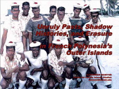Le cinéma dans le Pacifique et l'histoire des Gambier en anglais à l'UPF