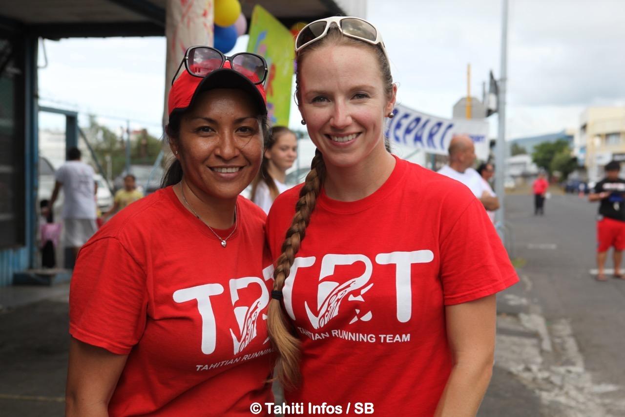 Tahia Teikikaine et Marta Slosarska de l'association TRT