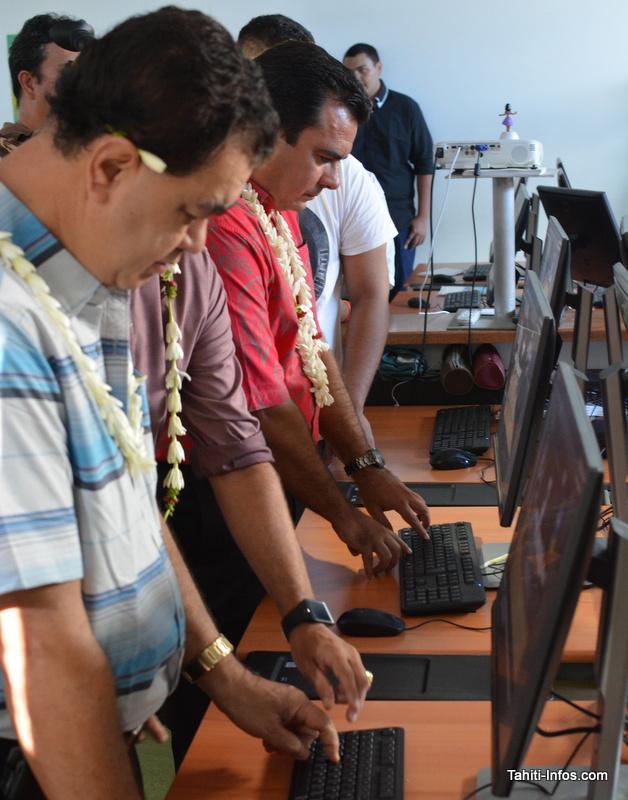 Le président de la CCISM affronte le ministre aux jeux vidéo créés par les élèves