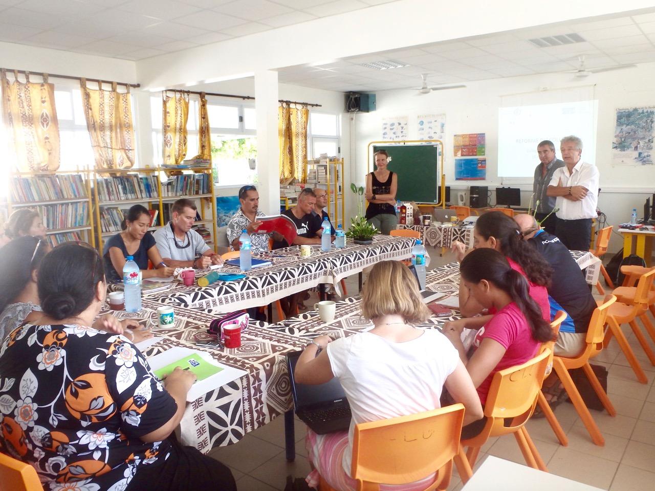 Makemo : La réforme du collège développée aux professeurs de l'atoll