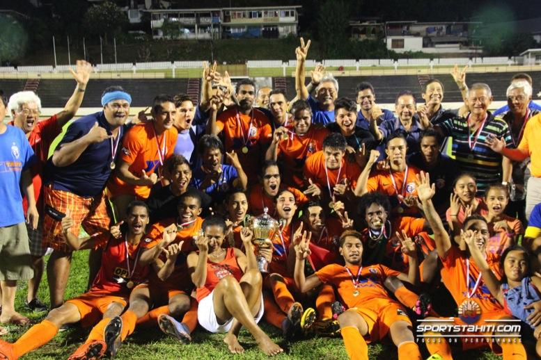 Foot : Un triplé de Manarii Porlier donne la Coupe de Tahiti Nui à Dragon