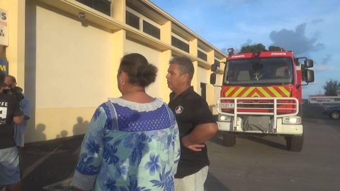 Mme le maire Sylviane Terooatea et le premier adjoint, Dominique Goché se sont rendus sur place.