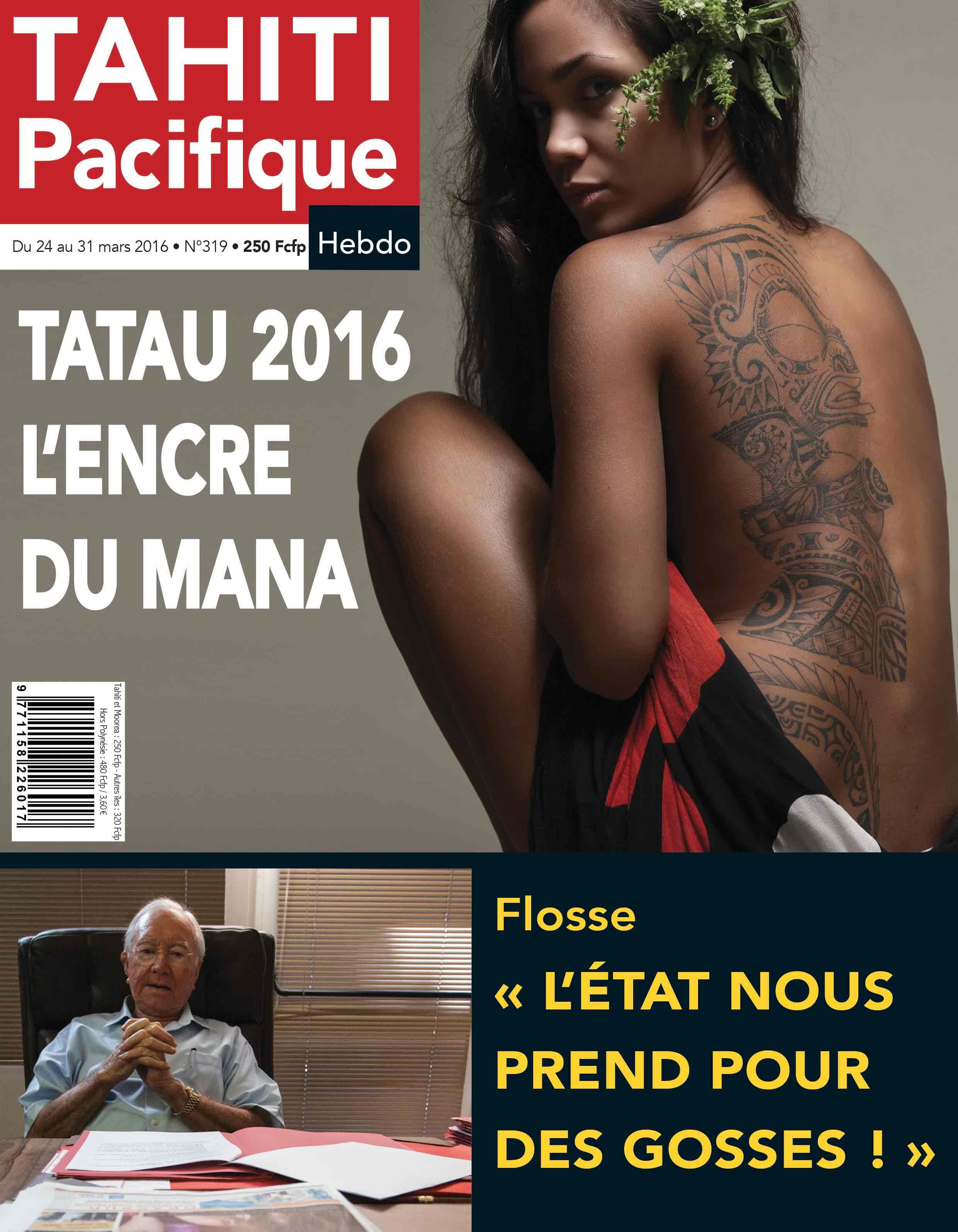 A la UNE de votre Tahiti Pacifique Hebdo demain