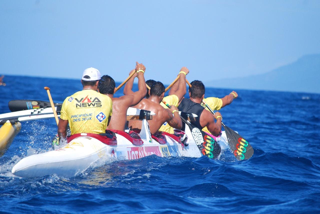 Team Opt, qui n'a pas démérité, arrive 2e © Alex Lacroix Va'a News