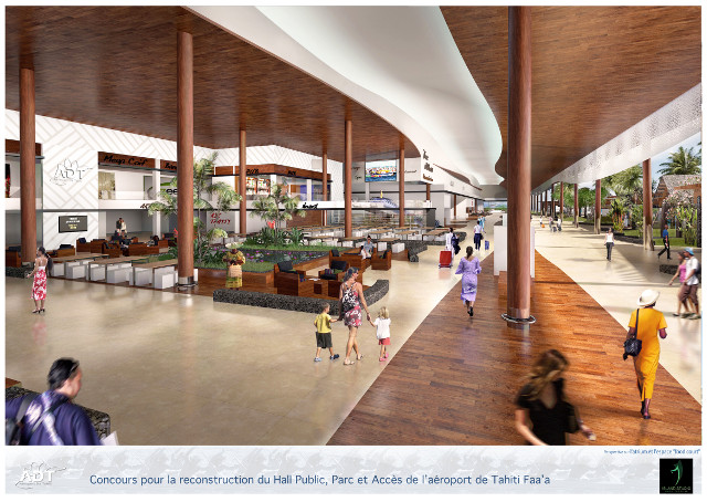 Le hall sera agrandi. Il sera construit en partie sur l'actuel déposé minute. Le fare des mama sera intégré dans le futur hall.