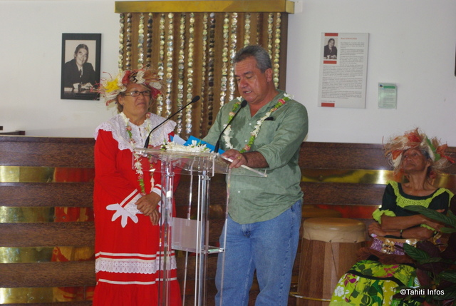 Heremoana Maamaatuaiahutapu ministre de la culture était présent lors de l'inauguration du salon des iles-Sous-le-Vent