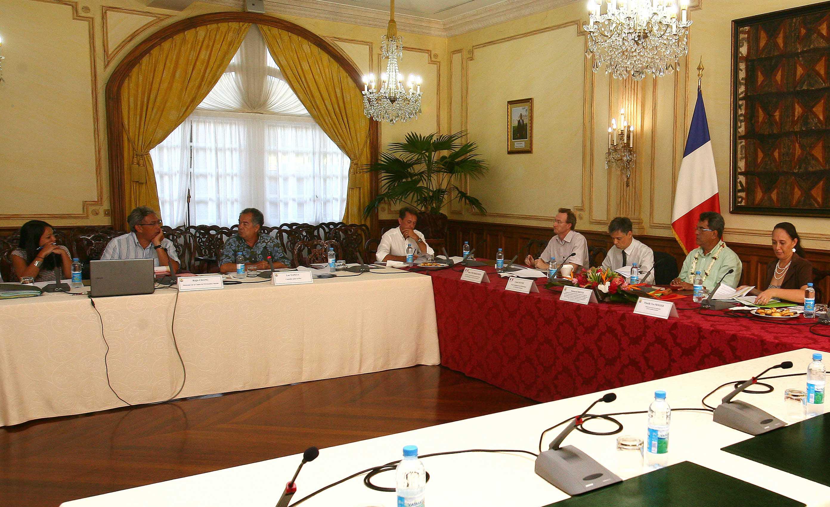 Réunion d'information avec le haut-commissaire sur la PSG