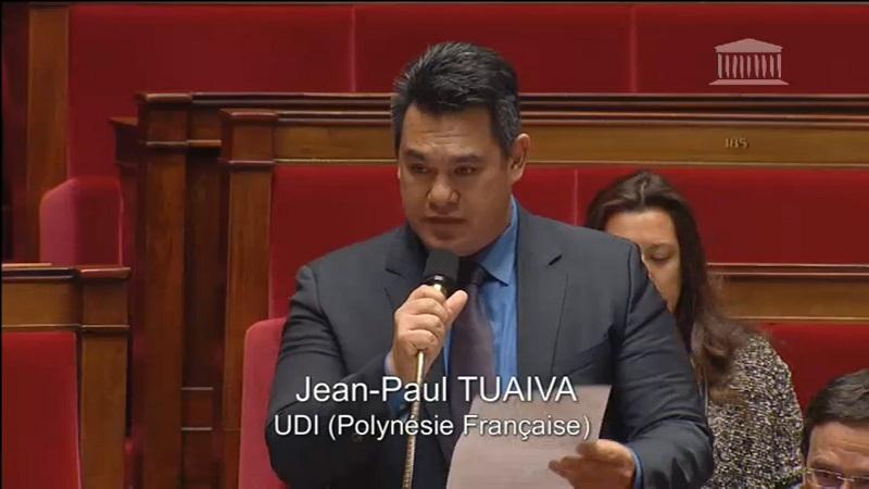 Le député polynésien à l'assemblée nationale (Photo d'archives).