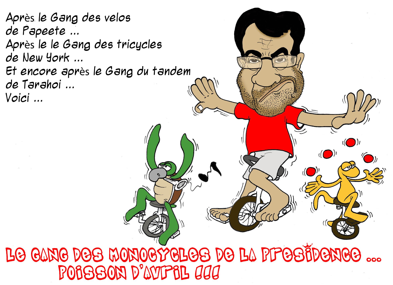 """""""Le gang des monocycles de la Présidence"""" par Munoz"""