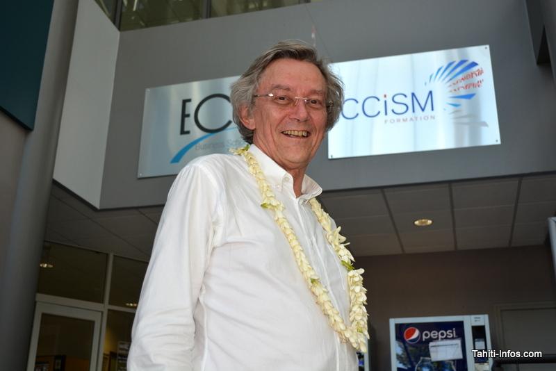 Eric Groud, président de la CCI de Maine et Loire, vice-président de la chambre régionale des Pays de la Loire en charge des formations et président du réseau national de formation Négoventis, qui regroupe 100 CCI de métropole et d'Outre-mer.