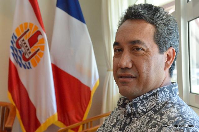 Marcel Tuihani, président de l'assemblée.