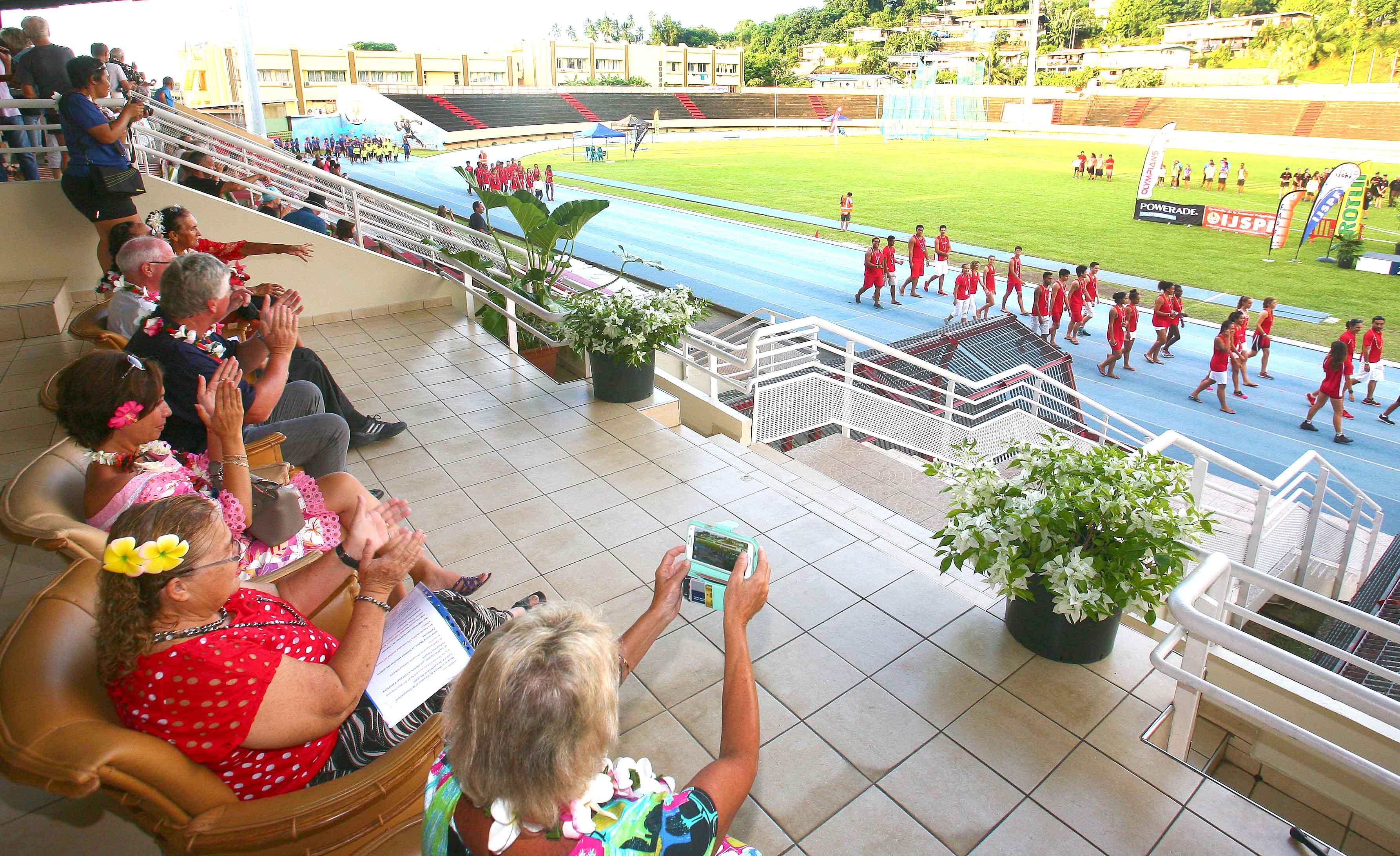 Cérémonie d'ouverture des championnats polynésiens des Oceania d'athlétisme