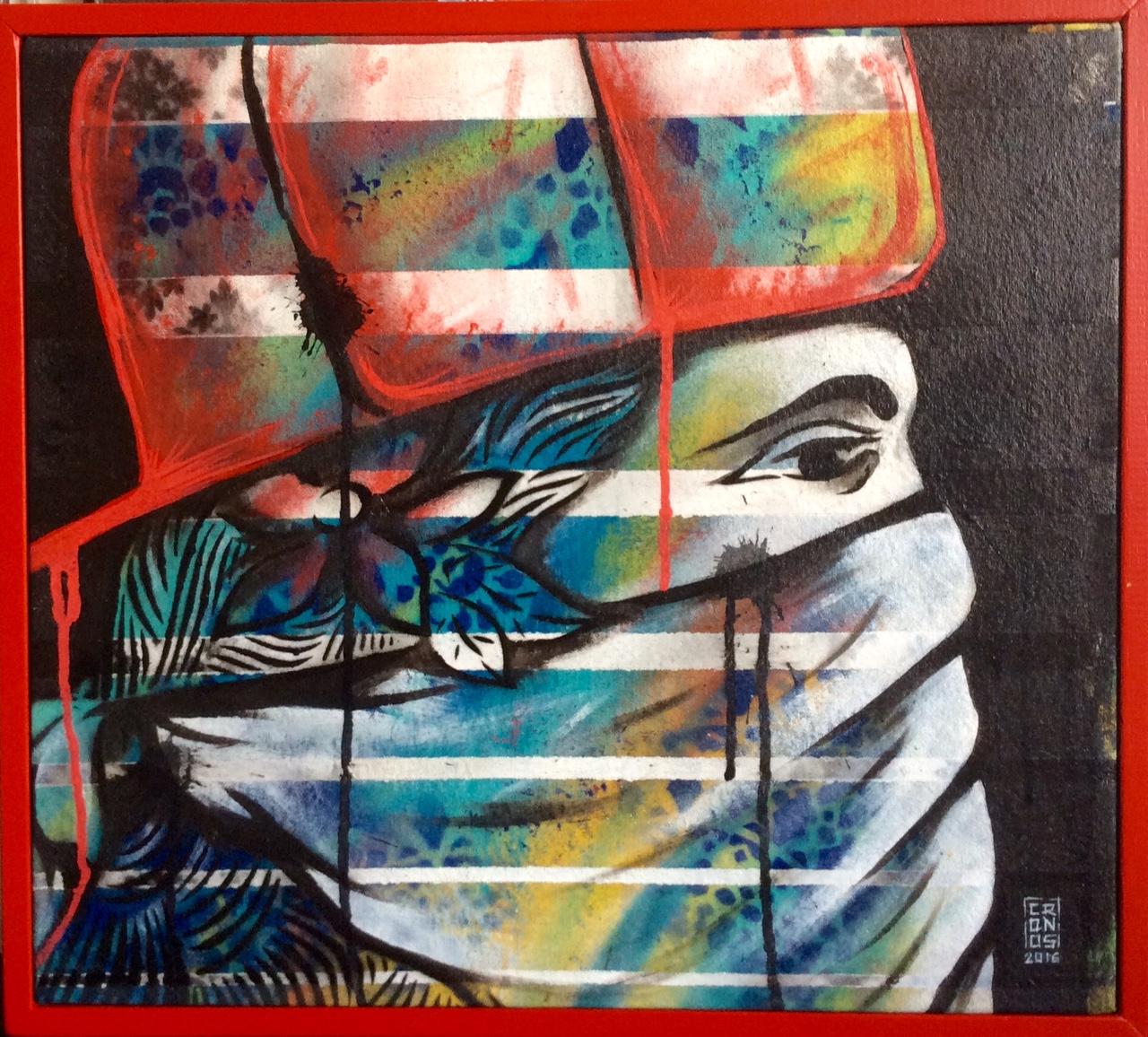 Le style de l'artiste est inspiré par la culture américaine, avec des touches locales, made in fenua.
